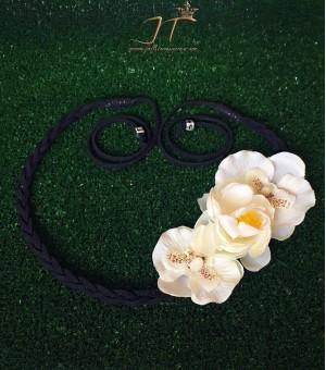 Аксесоар за коса от изкуствени цветя Black Pamela