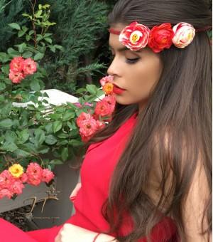Аксесоар за коса от изкуствени цветя Mallory
