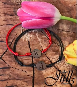 2бр. Red&Black Letter Amulets