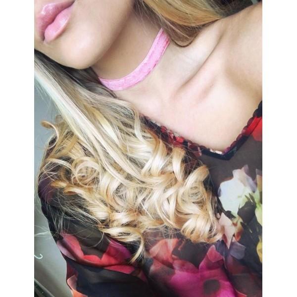 Pink Velvet Choker