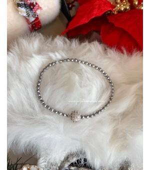 Коледна гривна от полускъпоценни камъни CZ silver