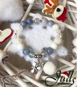 Коледна гривна от полускъпоценни камъни Angel