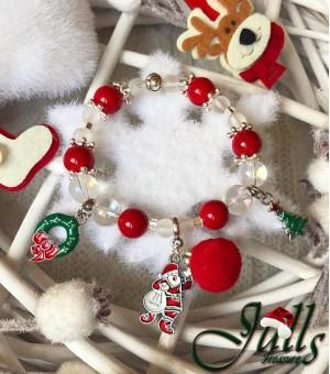 Коледна гривна от полускъпоценни камъни Holly