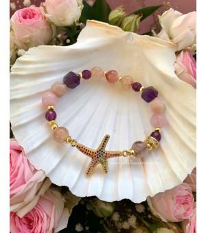 Гривна от полускъпоценни камъни Starfish