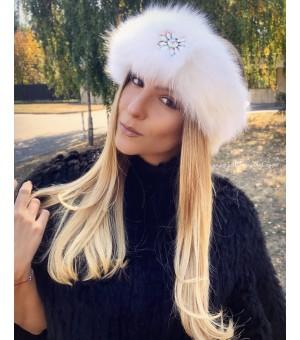 Лента За Коса От Естествена Кожа В бяло