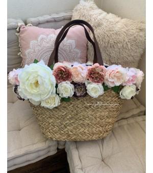 Плажна чанта с цветя 2