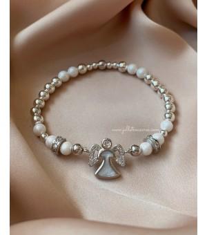Гривна от полускъпоценни камъни Silver Angel