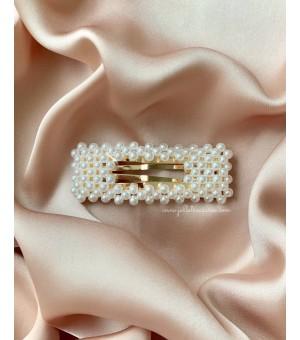 Правоъгълна шнола с малки перлички