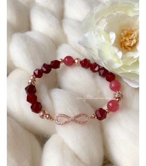 Гривна От Полускъпоценни Камъни Crystal Infinity