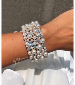 Гривна от кристали и перли