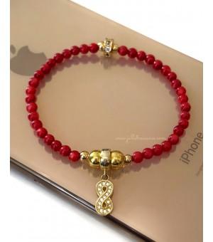 Гривна - амулет от полускъпоценни камъни Golden Infinity