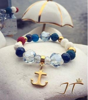 Гривна от полускъпоценни камъни Anchor