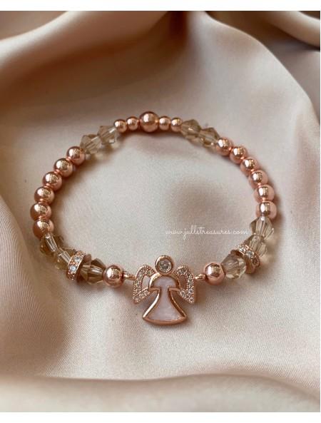 Гривна от полускъпоценни камъни Rose gold Angel