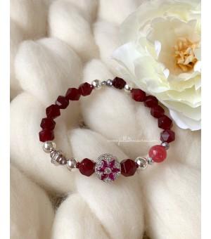 Гривна От Полускъпоценни Камъни Crystal Flower