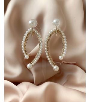 Кристални обици с перли