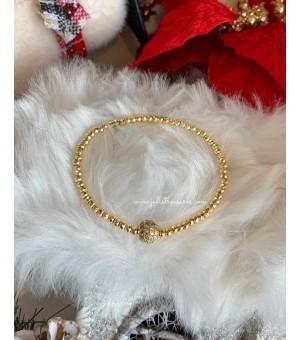 Коледна гривна от полускъпоценни камъни CZ gold