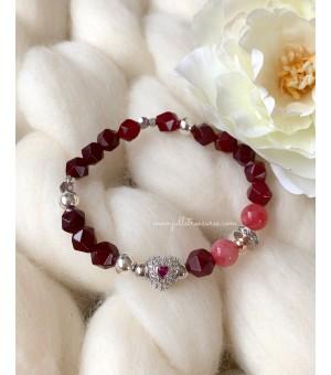 Гривна От Полускъпоценни Камъни Crystal Heart