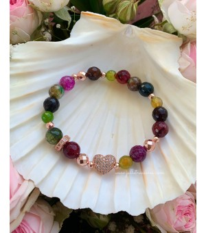 Гривна от полускъпоценни камъни Fleur