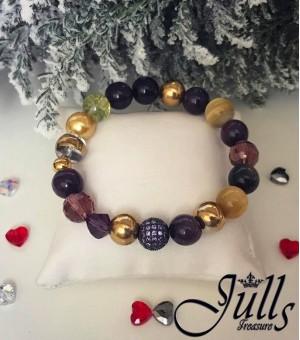 Гривна от полускъпоценни камъни Belle